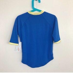 LuLaRoe Shirts & Tops - LuLaRoe Girl Top Blouse Shirt Sz 4 Sloan  Blue